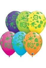 """11"""" Tropical Flora Balloons (Without Helium)"""