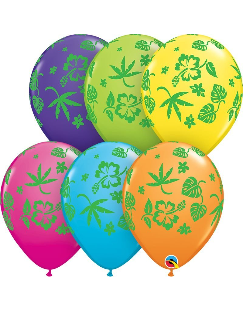 "11"" Tropical Flora Balloons (Without Helium)"