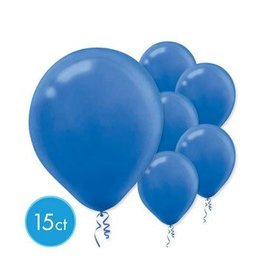Bright Royal Blue Solid Color Latex Balloons (15)