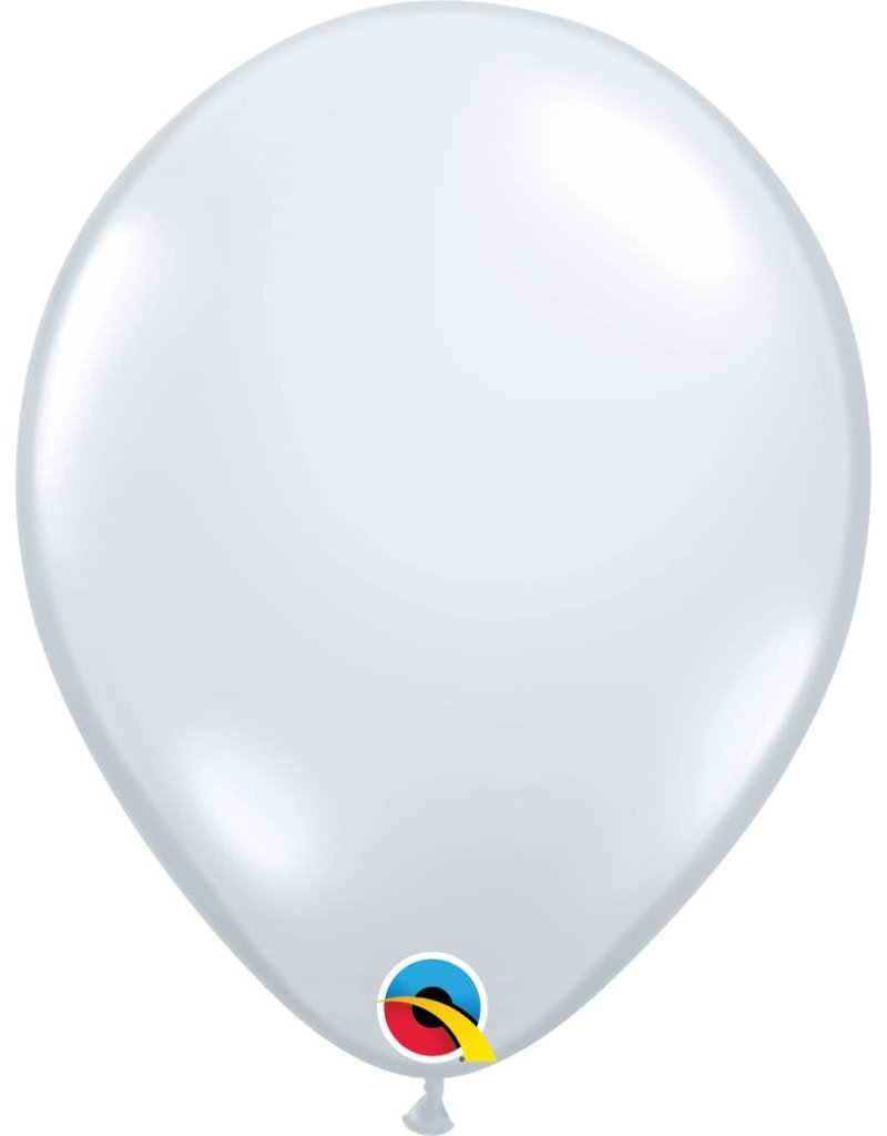 """11"""" Diamond Clear Latex Balloon (Without Helium)"""