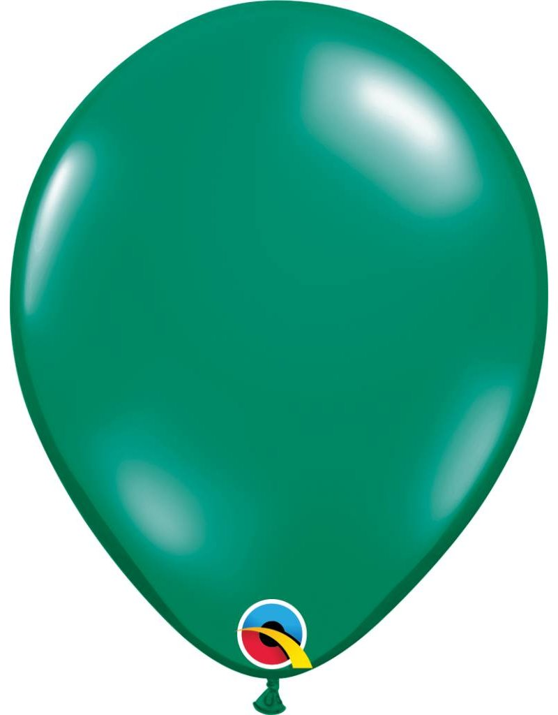 "11"" Emerald Green Latex Balloon (Without Helium)"