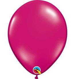 "11"" Jewel Magenta Balloon Uninflated"