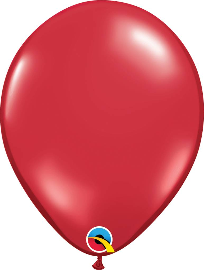 "11"" Ruby Red Latex Balloon (Without Helium)"