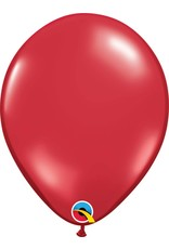 "11"" Ruby Red Latex Balloon Uninflated"
