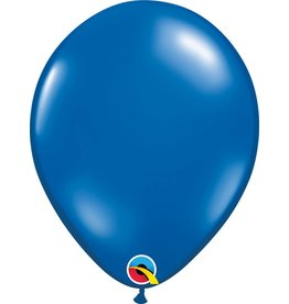 "11"" Sapphire Blue Latex Balloon (Without Helium)"