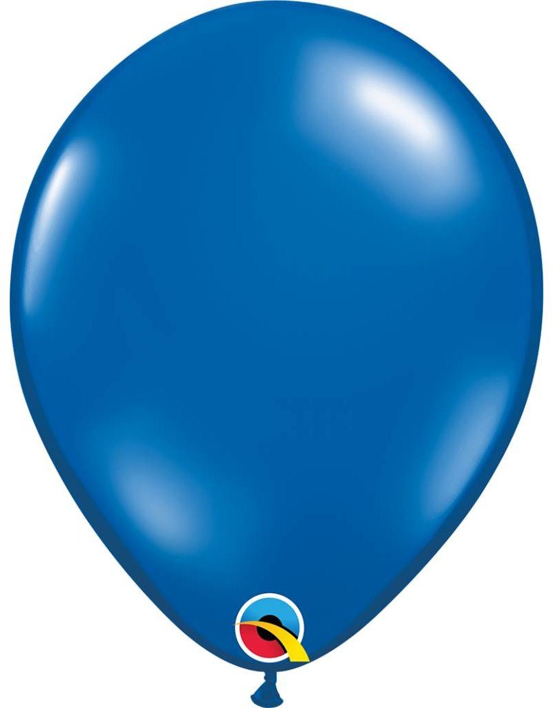 """11"""" Sapphire Blue Latex Balloon (Without Helium)"""