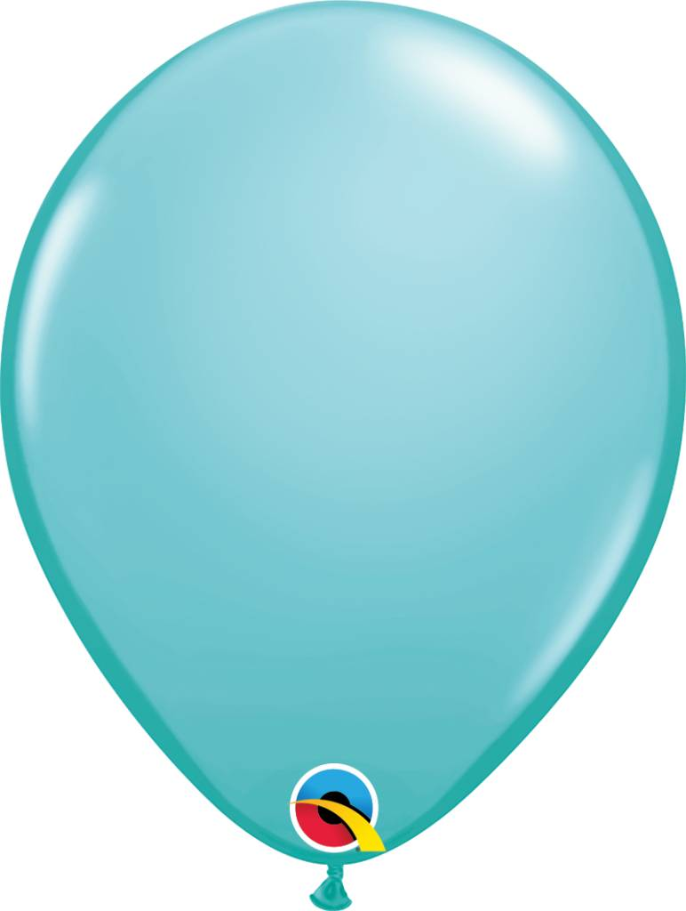 """11"""" Caribbean Blue Latex Balloon (Without Helium)"""