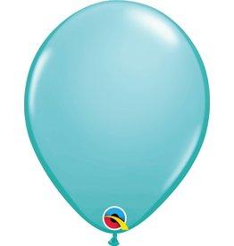"11"" Caribbean Blue Latex Balloon Uninflated"