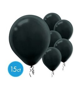 "Black 11"" Latex Balloons (15)"