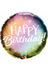 "Birthday Metallic Ombre & Dots 18"" Mylar Balloon"