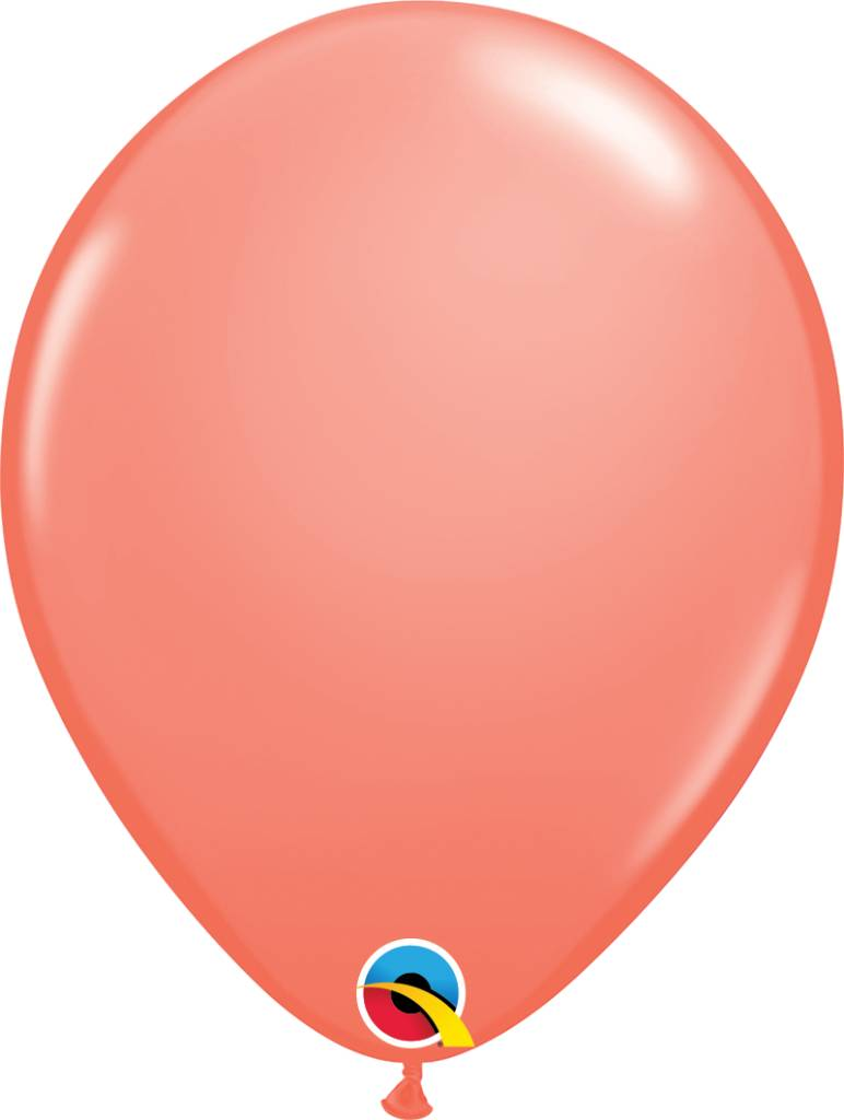 "11"" Coral Balloon Uninflated"