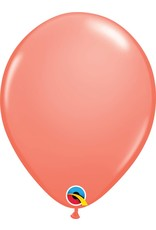 "11"" Coral Latex Balloon (Without Helium)"
