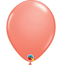 """11"""" Coral Latex Balloon Uninflated"""