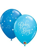 """11"""" Baby Boy Stars Balloons Uninflated"""