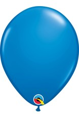 "11"" Dark Blue Latex Balloon (Without Helium)"