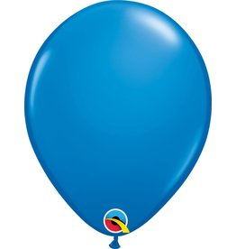 "11"" Dark Blue Latex Balloon (Without Helium)"