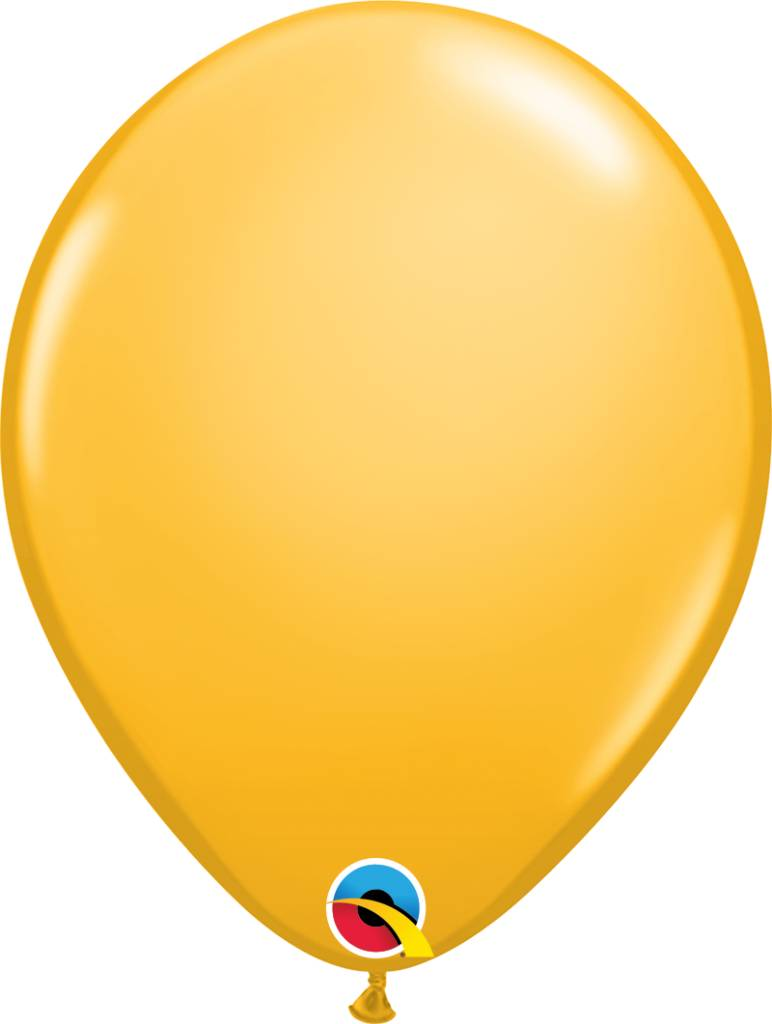 """11"""" Goldenrod Latex Balloon (Without Helium)"""