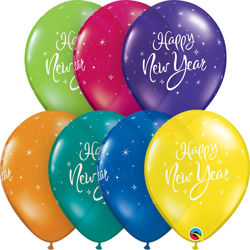 "11"" New Years Sparkle Latex Balloon"
