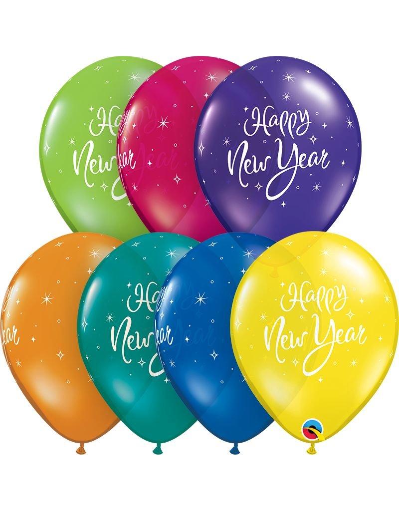 "11"" New Years Sparkle Latex Balloon"
