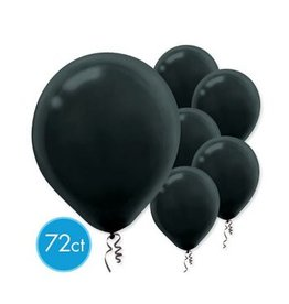 Black Solid Color Latex Balloons  (72)