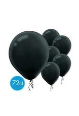"Black 11"" Latex Balloons  (72)"
