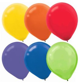 Assorted Solid Color Latex Balloons (72)
