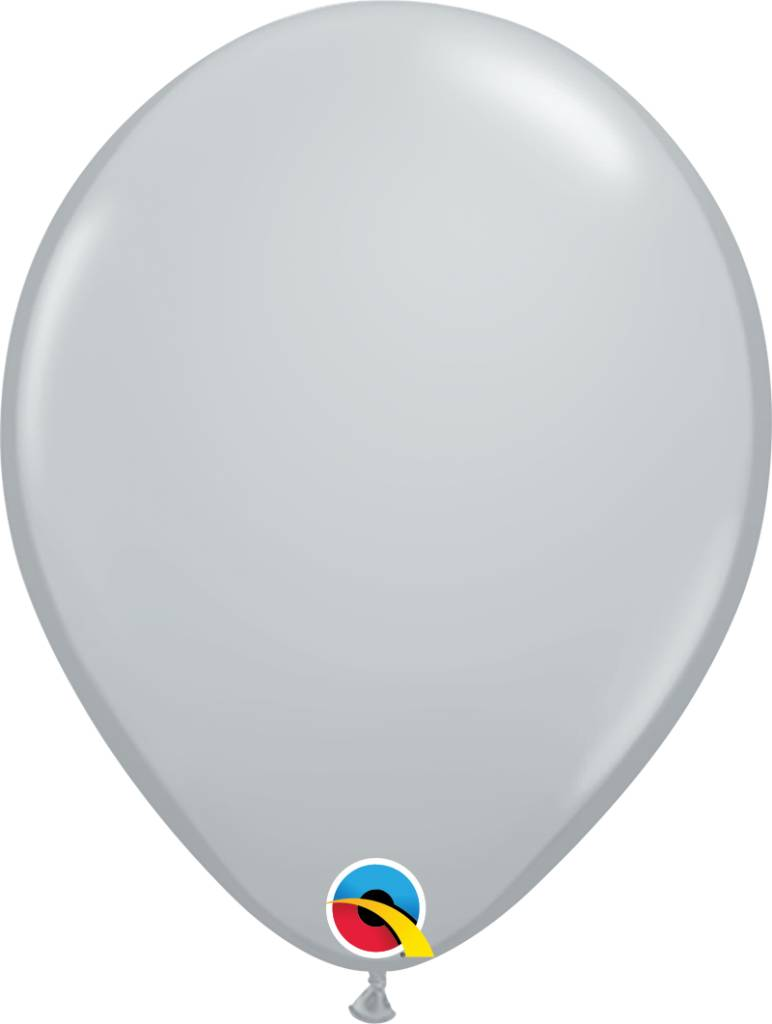 "11"" Gray Latex Balloon (Without Helium)"