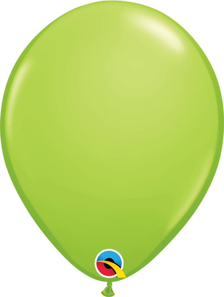 """11"""" Lime Green Latex Balloon (Without Helium)"""