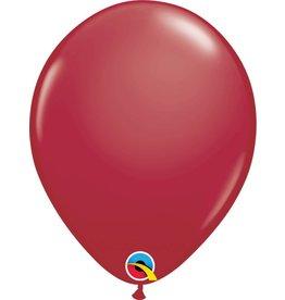 """11"""" Maroon Latex Balloon Uninflated"""