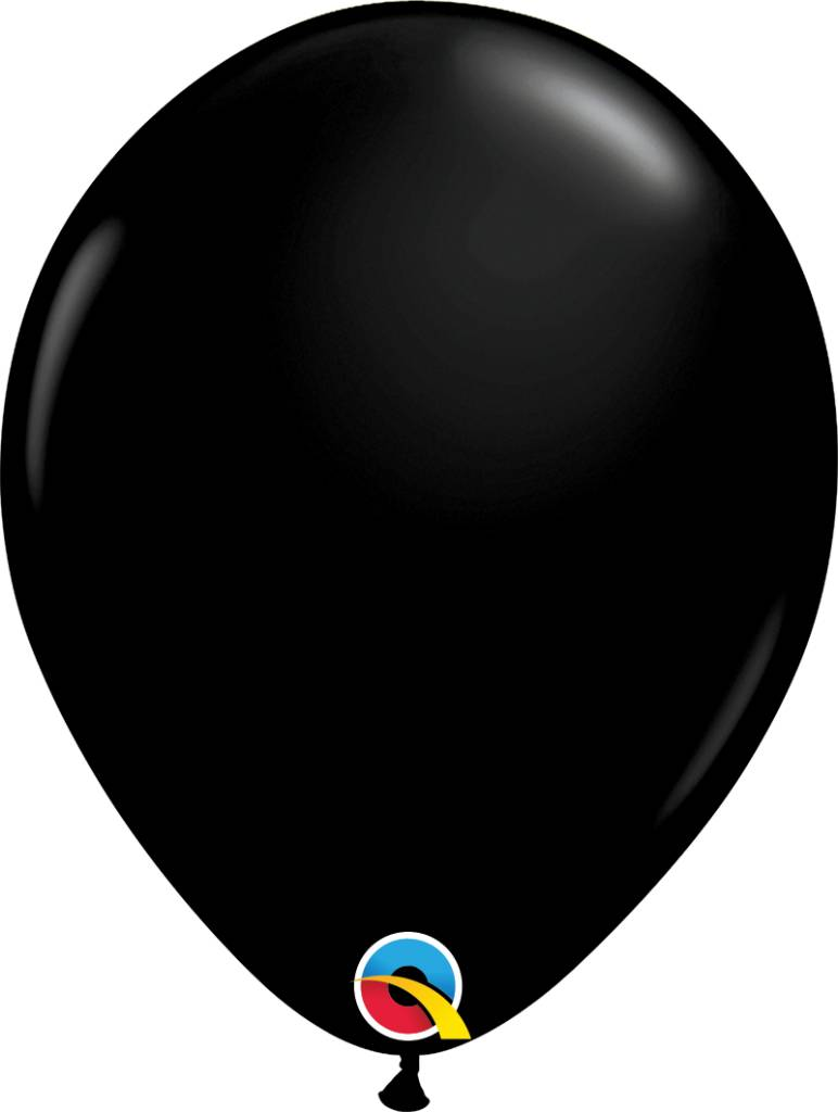 "11"" Onyx Black Qualatex Latex Balloon Uninflated"