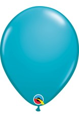 """11"""" Tropical Teal Latex Balloon (Without Helium)"""