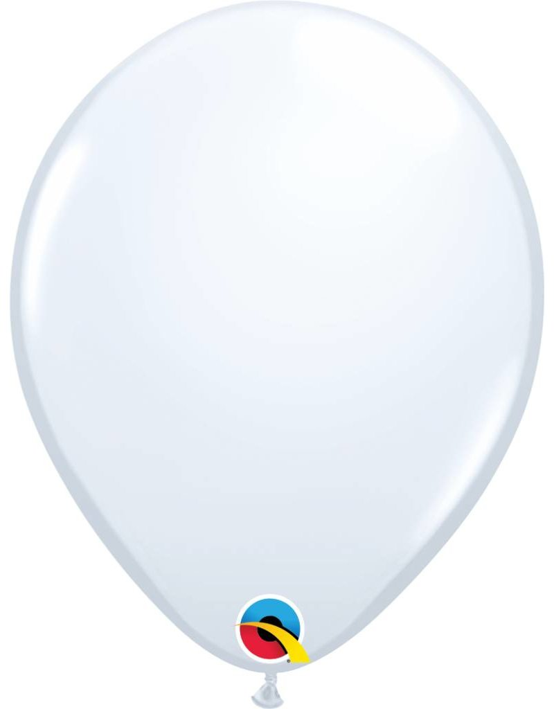 "11"" White Qualatex Latex Balloon (Without Helium)"