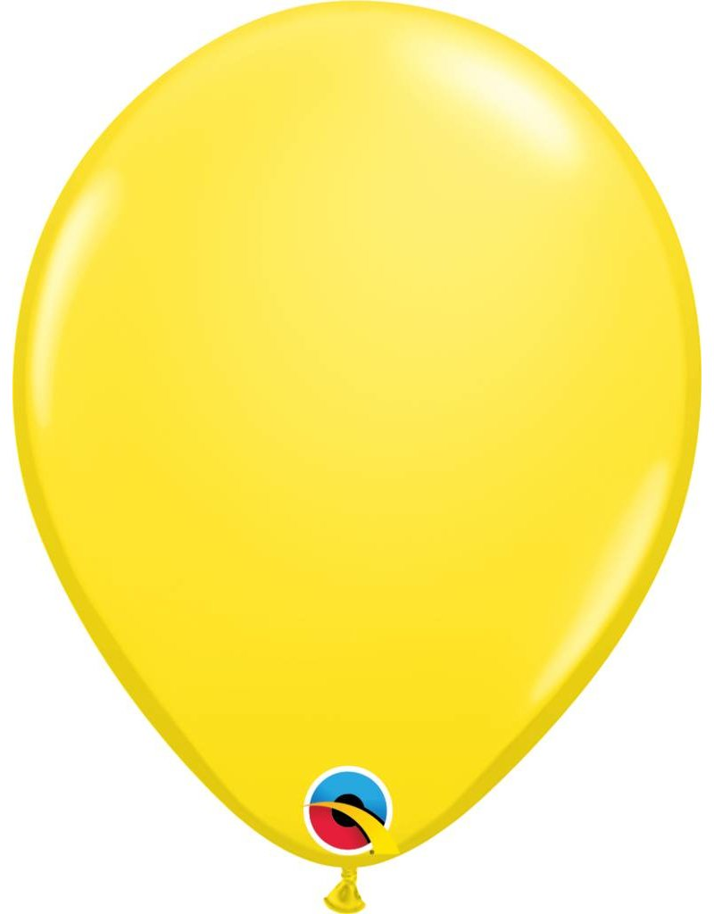 "11"" Yellow Latex Balloon (Without Helium)"