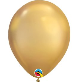 "11"" Chrome Gold Latex Balloon (Without Helium)"
