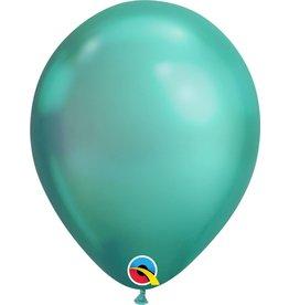 "11"" Chrome Green Latex Balloon Uninflated"