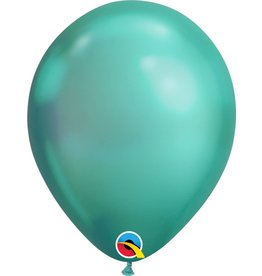 "11"" Chrome Green Latex Balloon (Without Helium)"