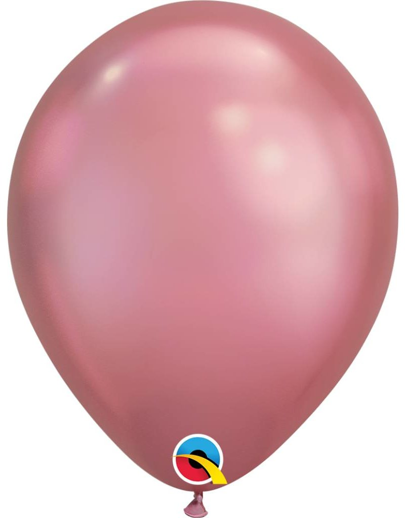 "11"" Chrome Mauve Latex Balloon (Without Helium)"