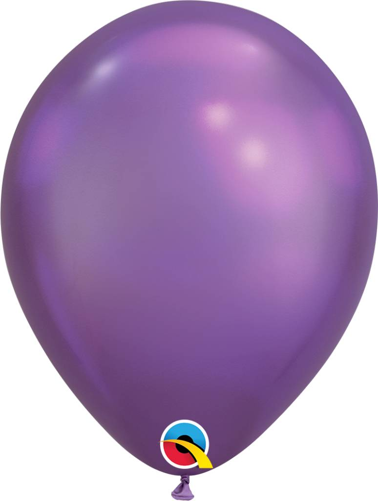 "11"" Chrome Purple Latex Balloon Uninflated"
