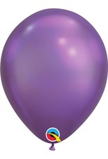 "11"" Chrome Purple Latex Balloon (Without Helium)"