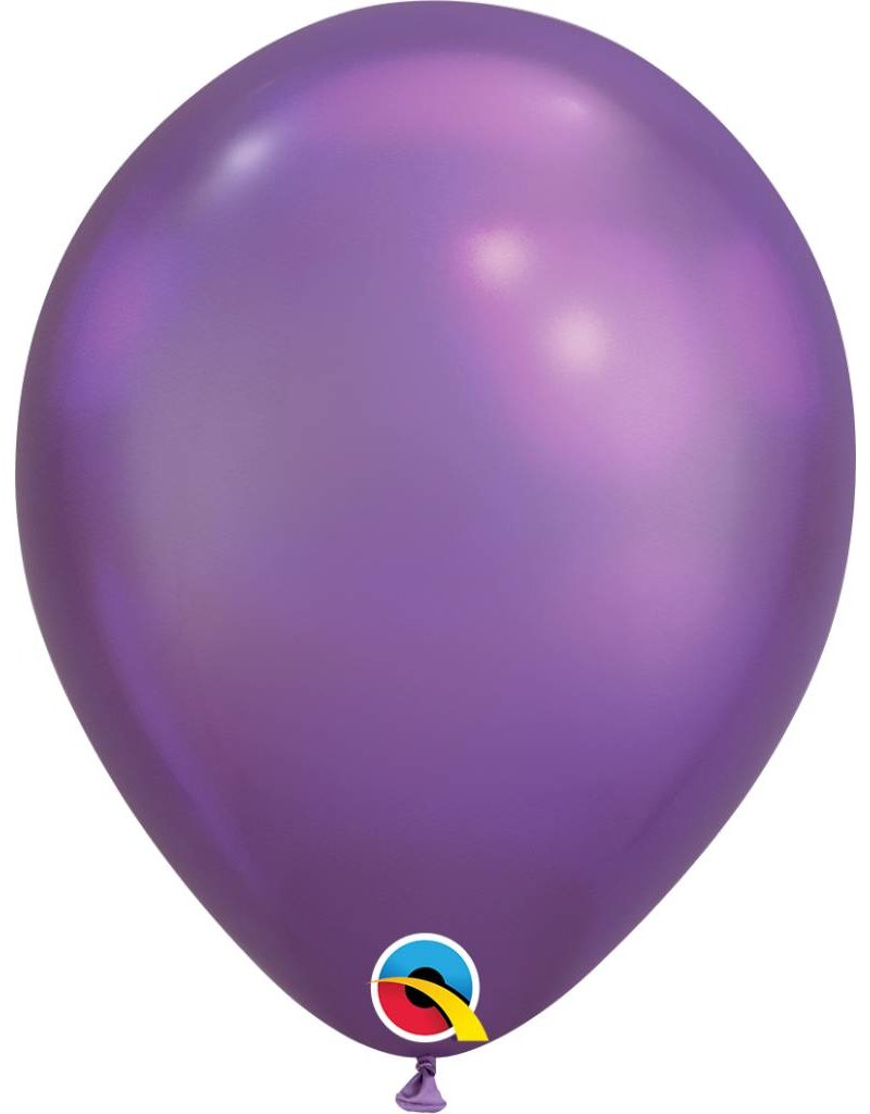 """11"""" Chrome Purple Latex Balloon (Without Helium)"""