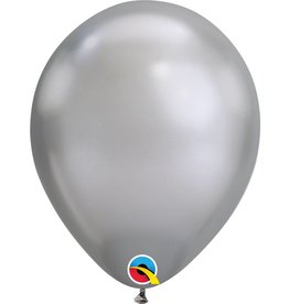 "11"" Chrome Silver Qualatex Balloon Uninflated"