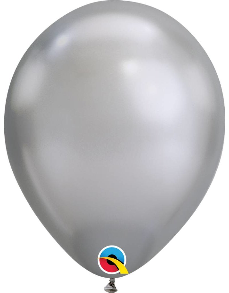 "11"" Chrome Silver Latex Balloon (Without Helium)"