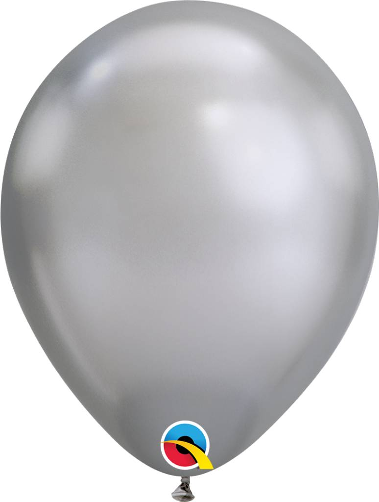 """11"""" Chrome Silver Latex Balloon Uninflated"""
