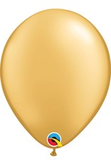 "11"" Gold Qualatex Latex Balloon Uninflated"