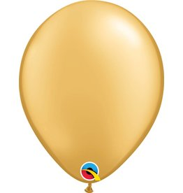 "11"" Gold Qualatex Latex Balloon Uninflated"