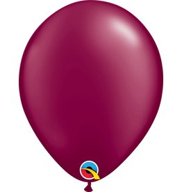 "11"" Pearl Burgundy Latex Balloon Uninflated"