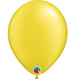 "11"" Pearl Citrine Yellow Latex Qualatex Balloon Uninflated"