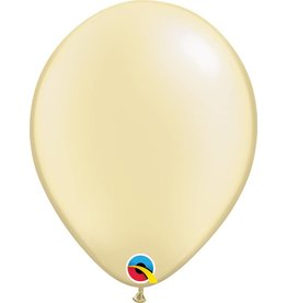 "11"" Pearl Ivory Qualatex Latex Balloon Uninflated"