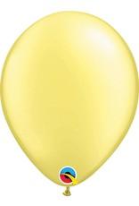 """11"""" Pearl Lemon Chiffon Latex Balloon (Without Helium)"""