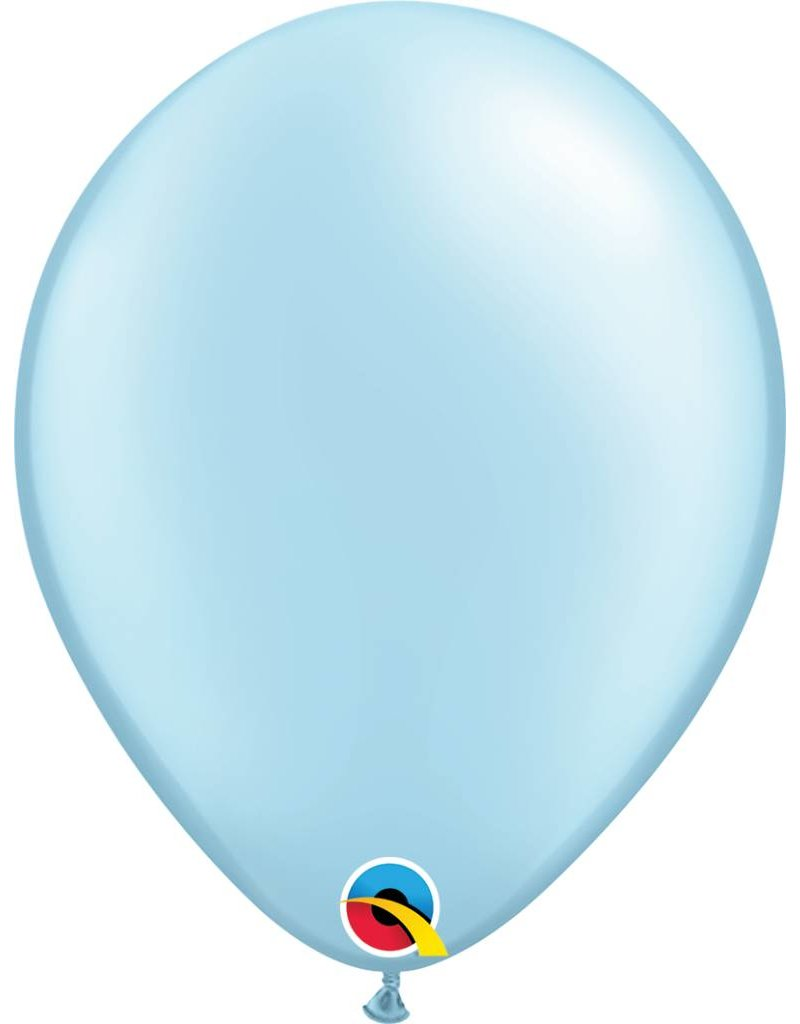 "11"" Pearl Light Blue Latex Balloon (Without Helium)"
